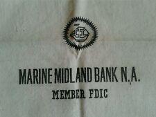 Large Vintage Marine Midland Bank Cash Deposit Canvas Bag