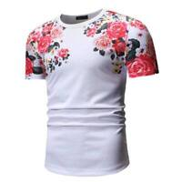 Slim fit casual men's tops o neck blouse short sleeve summer t shirt muscle tee