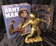 "Frank Kozik SIGNED AUTOGRAPHED 17"" GOLD Big Army Man LE 50 Ultraviolence NIB"