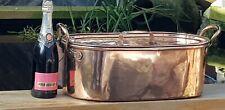 More details for a huge victorian copper fish kettle/poacher with lid & strainer nr 10kg.