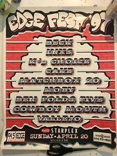 94.5 102.1 The Edge Kdge 1997 Edgefest Poster Beck Inxs Matchbox 20 Ben Folds