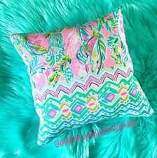 New throw pillow made with Authentic LILLY PULITZER Unicorn Of The Sea fabric