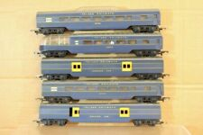 TRIANG HORNBY RAKE of 5 BLUE TRANSCONTINENTAL TC BAGGAGE OBSERVATION COACH ns