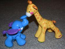 Fisher Price Amazing Animals Lot Clicker Giraffe Elephant