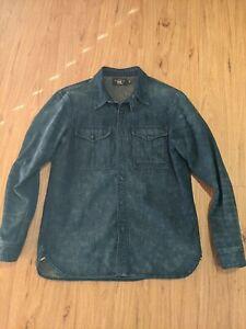 RRL Selvedge Denim Work Shirt - Size M (Fits like a large)