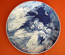 Meissen Märchen Eisblumen mit Kinder 26 cm Jahresteller 1978 DDR TOP Wand-Teller