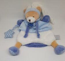marionnette ours petit chou bleu blanc étoile ballon Doudou et Compagnie NEUF