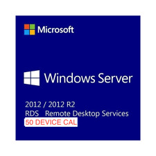 Windows Server 2012 R2 RDS Remote Desktop Services 50 DEVICE Cal's