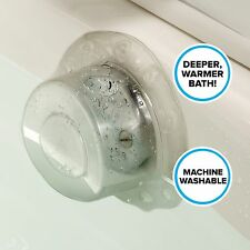 "Recyclable Bottomless Bath Drain Cover (Adds 3"" of Depth) in Clear"