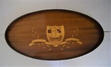 """Vintage Souvenir WEYMOUTH and MELCOMBE REGIS Marquetry Inlay Wooden Tray - 18"""""""
