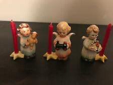 Goebel, W Germany, Tmk-3 Christmas Angels Candle holders - Set of 3