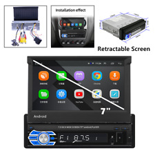 7inch 1DIN Car Stereo Radio Video MP5 Player GPS Bluetooth Retractable Screen