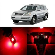 16 x Red LED Interior Lights Package For 2003 - 2009 Lexus GX470 + PRY TOOL