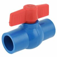 25mm Inner Dia Red Control Lever PVC Ball Valve Quick Adapter Blue N1M6