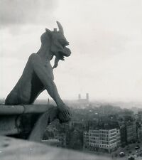 PARIS c. 1950 - Notre Dame Gargouilles Chimères - DIV 9479