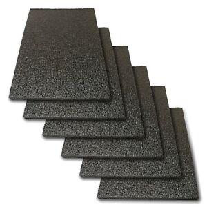"""6x Foam Sheet 12""""x 8""""x 0.5"""" 1/2"""" Thick Black PE Packing Shipping Firm"""