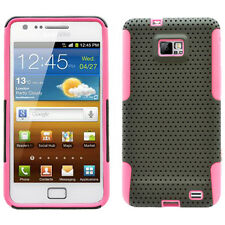SAMSUNG i9100 ATTAIN GALAXY S2 SPORTY HYBRID 2 TONE CASE BLACK/PINK