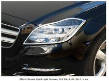 Mercedes W218 C218 X218 CLS Chrome Headlamp Surrounds Frames Set