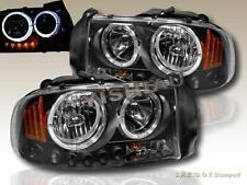 Dodge Dakota 97 - 04 Durango 98 - 03 Headlights Black Twin Halo LED