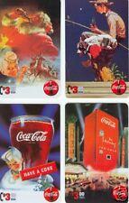Coca-Cola Phonecards Sundblom Santa & Norman Rockwell  Collect-a-Card set of 4