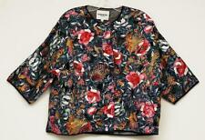 ESSENTIEL ANTWERP Black Floral LEMONO Embroidered 3/4-Sleeve Jacket 38/6 NEW