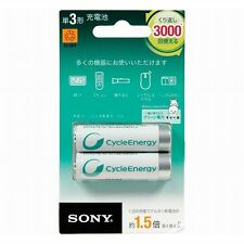 SONY☆Japan-NH-AA-2BRA Cycle Energy Silver Rechargeable AA size Battery 2P