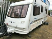 2002 Compass Magnum 505 - 4 berth caravan, fixed bed, serviced & damp checked