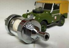 "Land Rover Series 1 2 Chrome Glass Fuel Petrol Inline Filter 1/4"" 6mm Reusable"