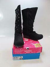 SKECHERS Girls HEARTSTOPPERS SILKY STEPS Black Boots US-2 (87982L/BLK)
