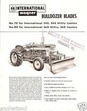 Equipment Brochure - Ih - Wagner - 70 80 - Bulldozer Blade for Tractor (E1797)