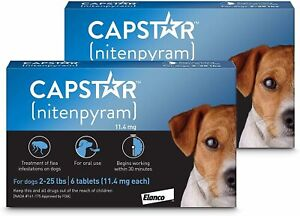 Capstar Fast-Acting Oral Flea Treatment For Dogs 2-25 lbs. 12 CT 11mg