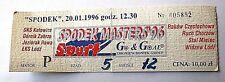 Maestros Spodek Katowice Poland' 96 De Colección torneo de fútbol evento boleto