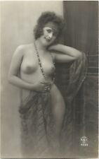 Rare original old French real photo postcard Art Deco nude study 1920s RPPC #75