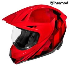 Icon Variant Pro Dual Sport Full Face Motorcycle Helmet - Ascension Red