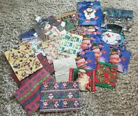 Huge Lot of Vintage Christmas Gift Bags & Wrap Hallmark Current Lots New