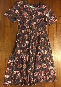 Vintage Maggie Lawrence Cottagecore/Prairie Style Floral Dress Size Large