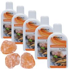 Warda Saunaaufguss 5x 200 ml freie Duftwahl plus gratis Sauna-Salzbrocken 3 St.