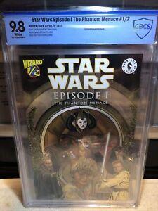 Star Wars: Episode 1 The Phantom Menace #1/2 CBCS 9.8 Wizard Dark Horse 1999