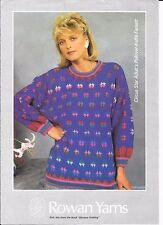 "Rowan Sweater Circus Star up to 42"" Kaffe Fassett knitting pattern"