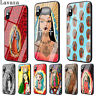 TPU For 6S Plus 8 7 X XS Max iPhone 5S Case Casing Pattern Tempered Glass N5058