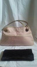 GUCCI Pale Pink W/ White GG Monogram Canvas Eclipse Shoulder Bag