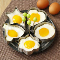 5pcs/Set Egg Mold Pancake Mould Ring Fried Cooking Shaper Kitchen Gadgets Cute #