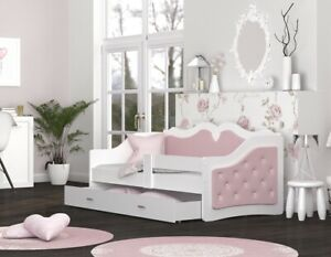 Kinderbett 80x160 cm Jugendbett NEU mit Schublade mit Matratze Juniorbett