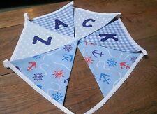 Personalised Name Bunting Boys Nautical Blues, £1.25 PER FLAG