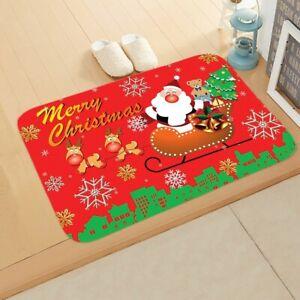 Santa Claus Xmas Mat Outdoor Carpet Merry Christmas Home Decor 40*60cm / 50*80cm