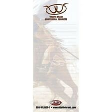 """Weaver Leather Branded 50 Sheet Notepad with Magnet Back - 3.25"""" x 8"""""""