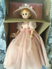 "18"" Vintage Madam Alexander Elise Bridesmaid Blonde Pink Dress In Box #1655"