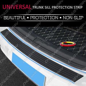 1pc Accessories Rubber Sheet Car Rear Guard Bumper 4D Sticker Panel Protector