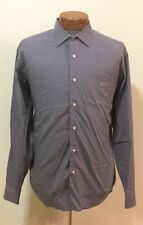 Lacoste Purple Plaid Button Front Dress Shirt Size 45 100% Cotton