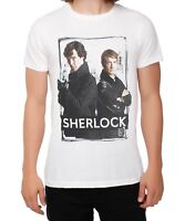 BBC Sherlock SHERLOCK AND WATSON T-Shirt NWT Licensed & Official